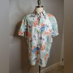 Izod Saltwater Relaxed Fit Hawaiian Tropical Shirt